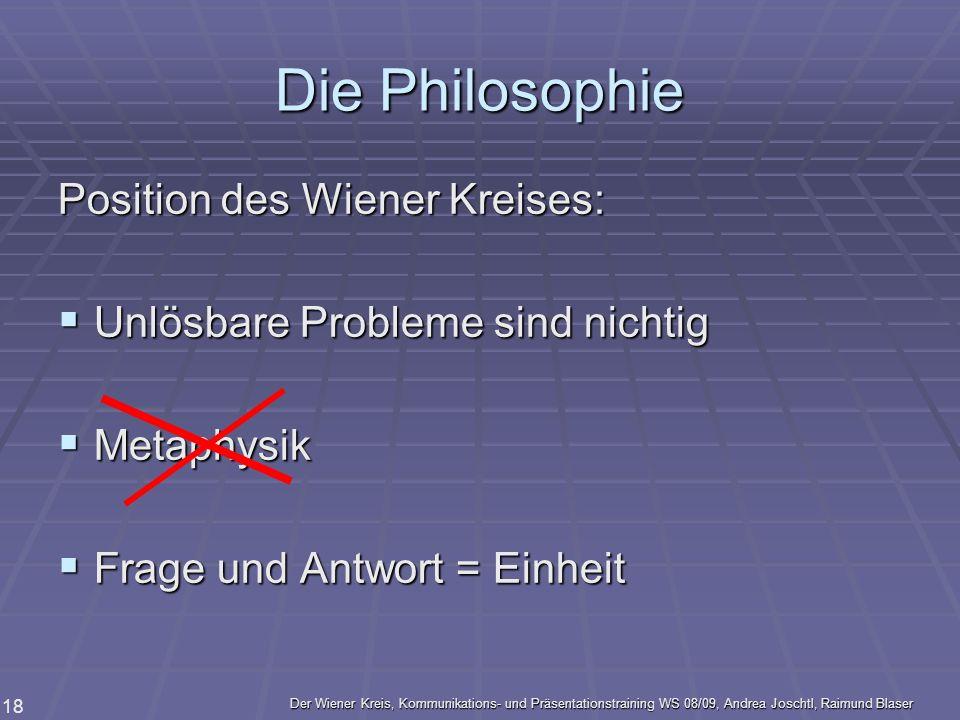 Die Philosophie Position des Wiener Kreises: