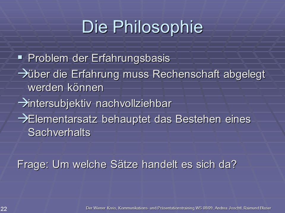 Die Philosophie Problem der Erfahrungsbasis