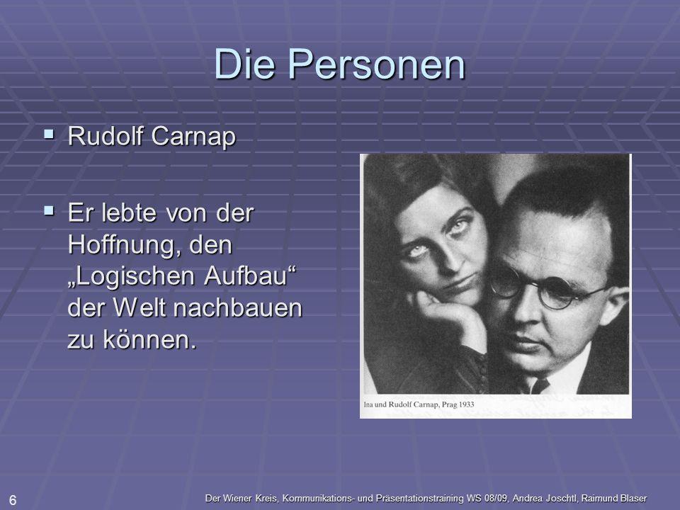 Die Personen Rudolf Carnap