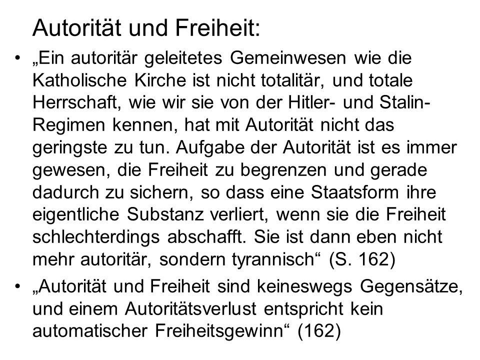 Autorität und Freiheit: