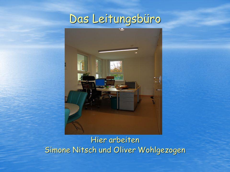 Hier arbeiten Simone Nitsch und Oliver Wohlgezogen