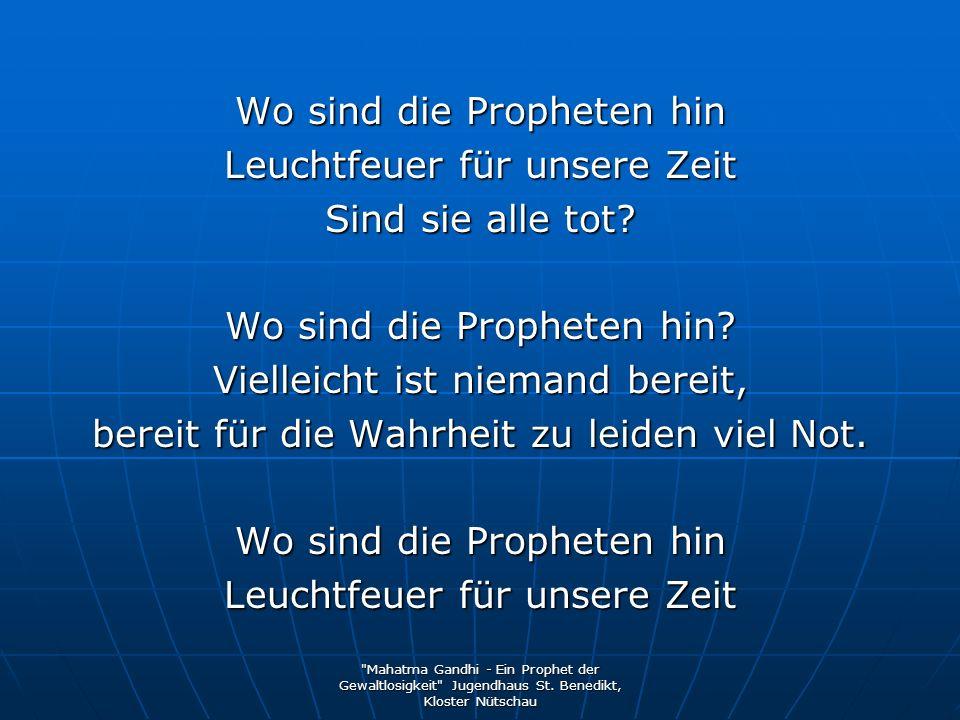 Wo sind die Propheten hin Leuchtfeuer für unsere Zeit