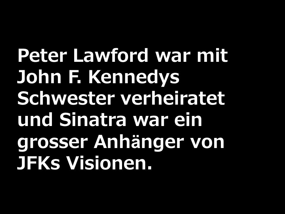 Peter Lawford war mit John F