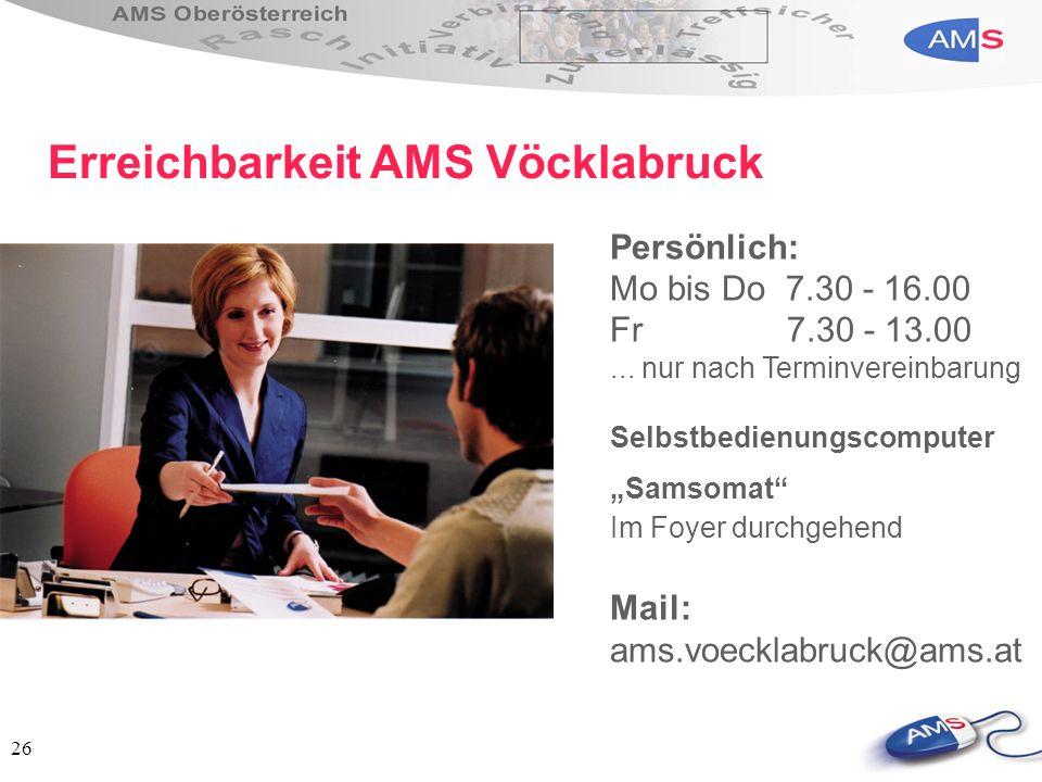 Erreichbarkeit AMS Vöcklabruck