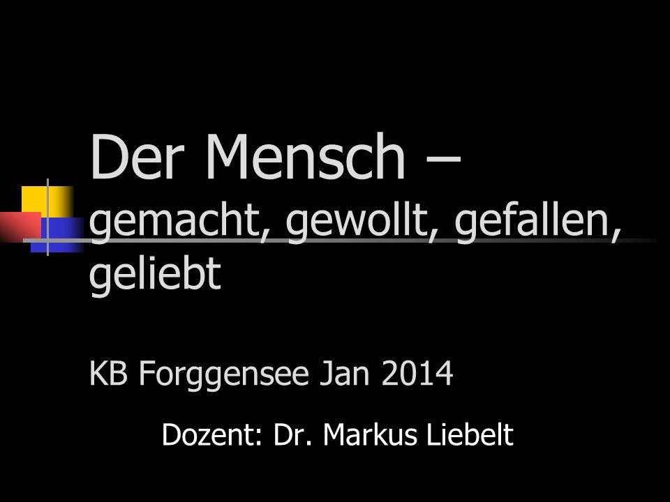 Dozent: Dr. Markus Liebelt