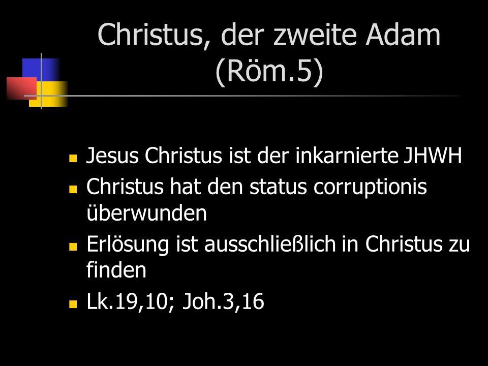 Christus, der zweite Adam (Röm.5)