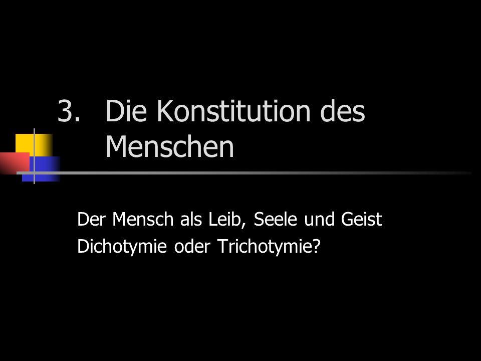 3. Die Konstitution des Menschen