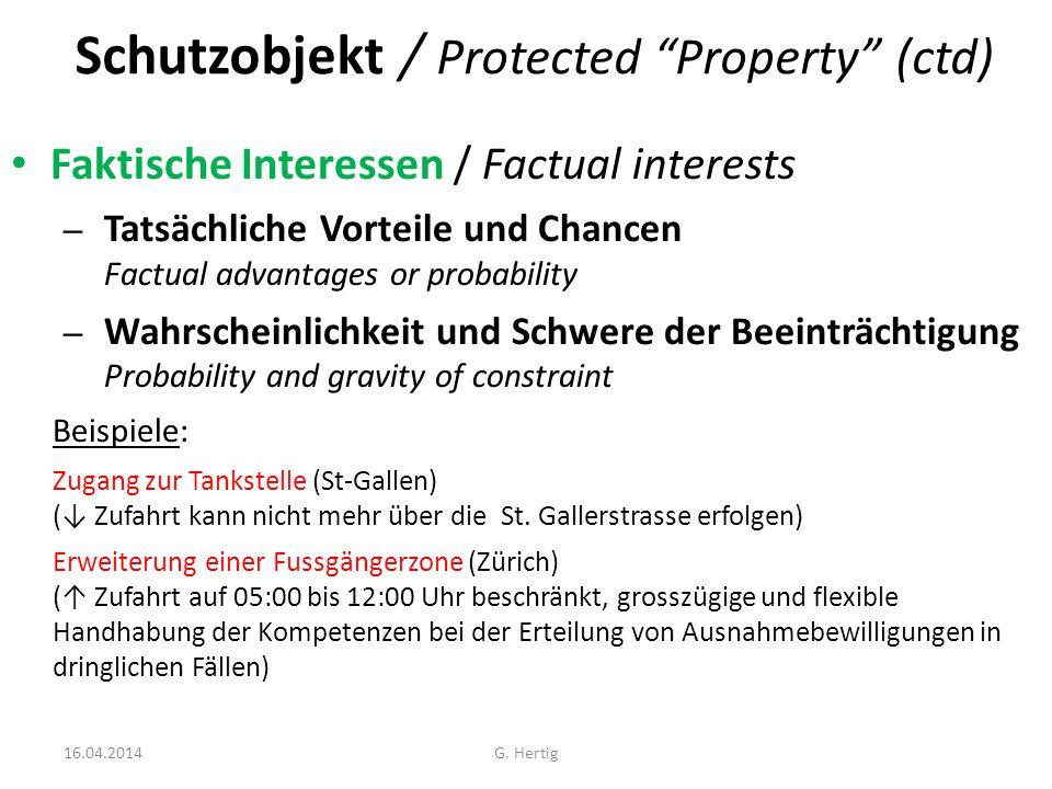 Schutzobjekt / Protected Property (ctd)