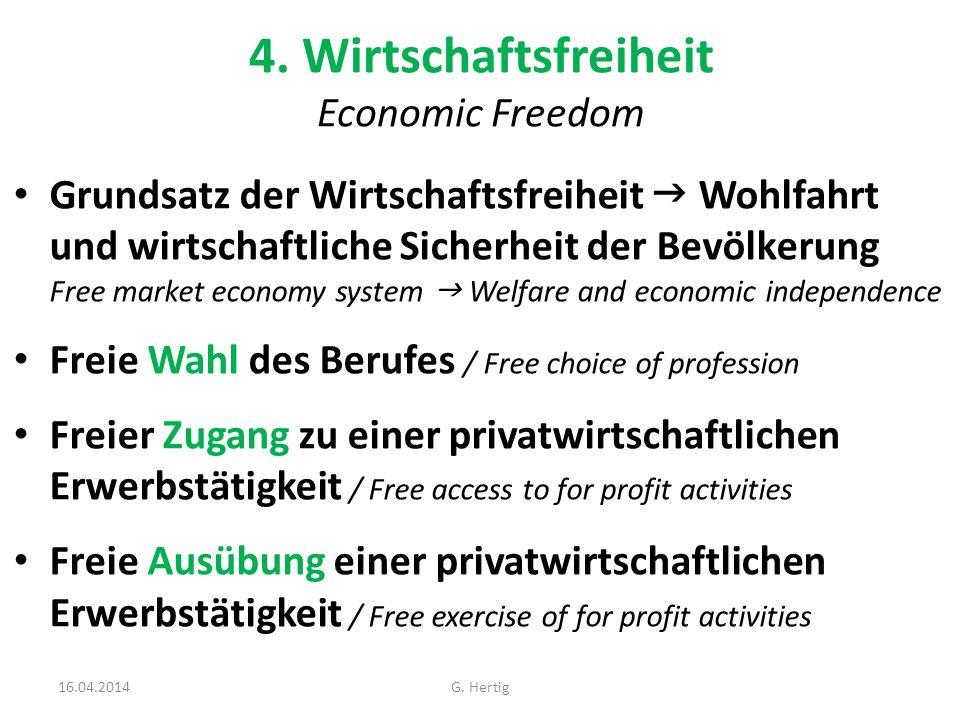 4. Wirtschaftsfreiheit Economic Freedom