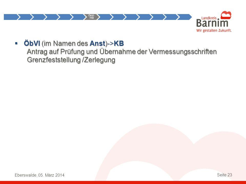 Anst->ÖbVI ÖbVI->KB. KB->ÖbVI. ÖbVI->Anst. KB->Anst.