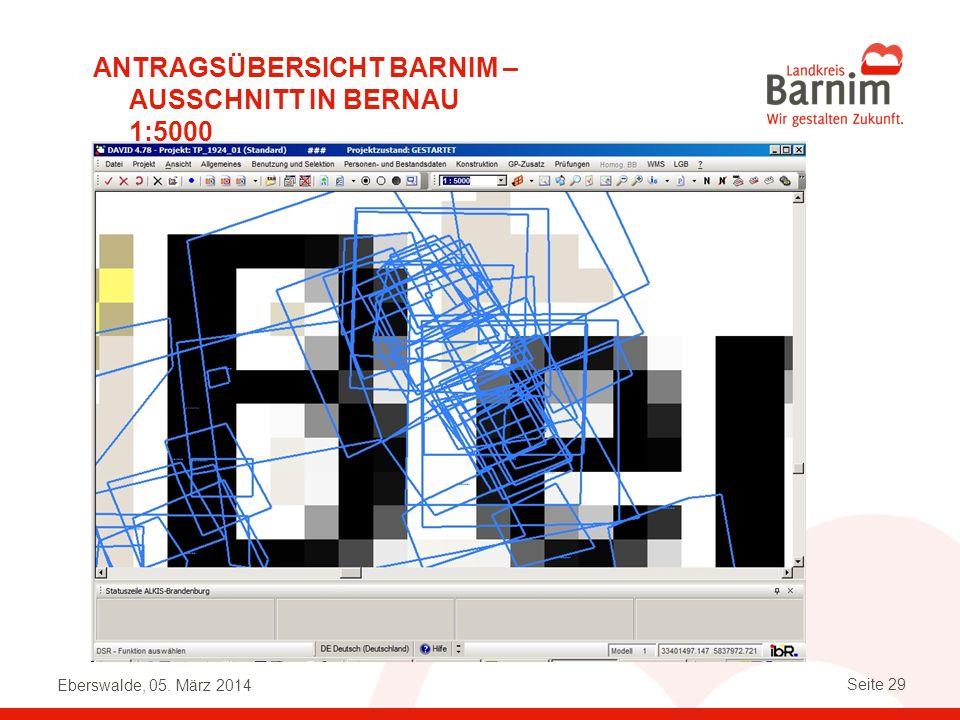Antragsübersicht Barnim – Ausschnitt in Bernau 1:5000