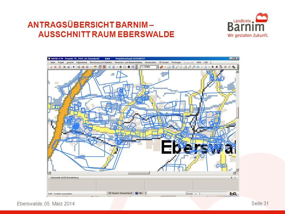 Antragsübersicht Barnim – Ausschnitt Raum Eberswalde