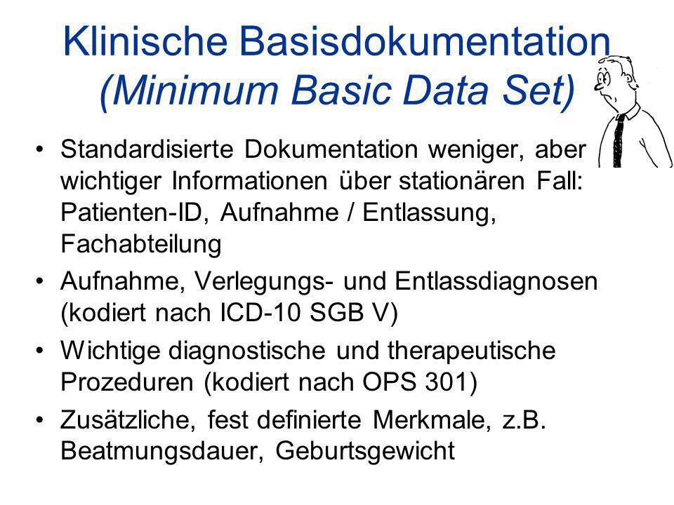 Klinische Basisdokumentation (Minimum Basic Data Set)