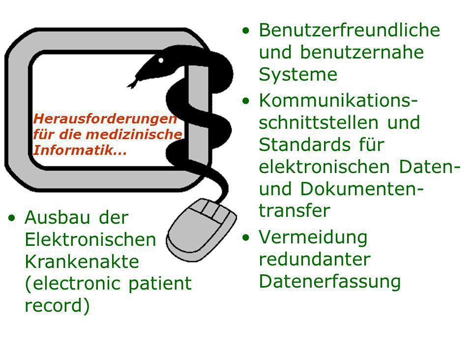 Benutzerfreundliche und benutzernahe Systeme