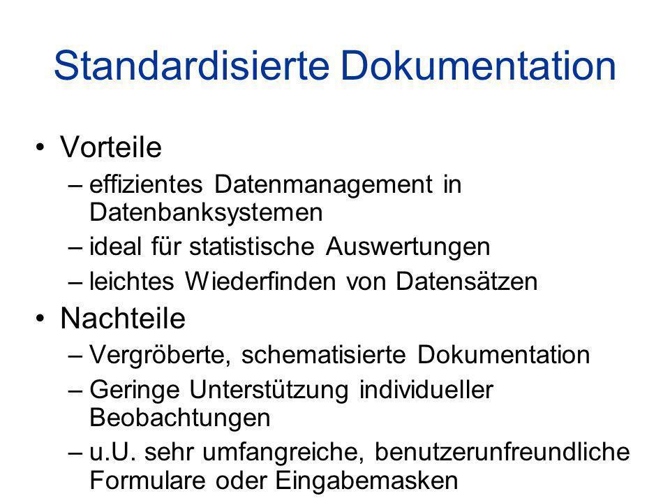 Standardisierte Dokumentation