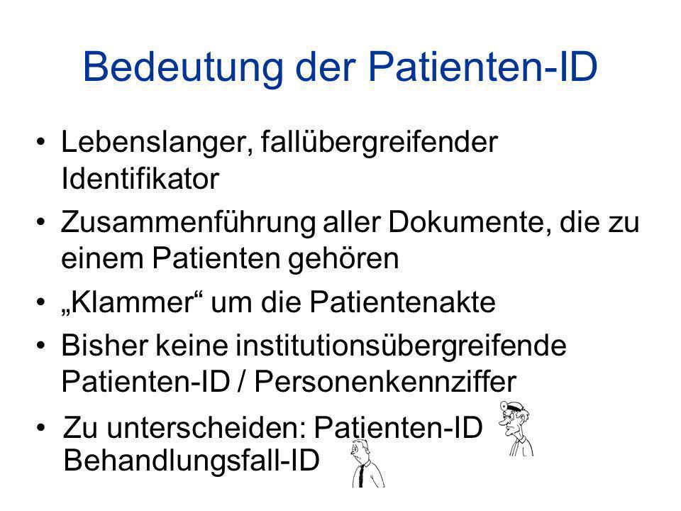 Bedeutung der Patienten-ID