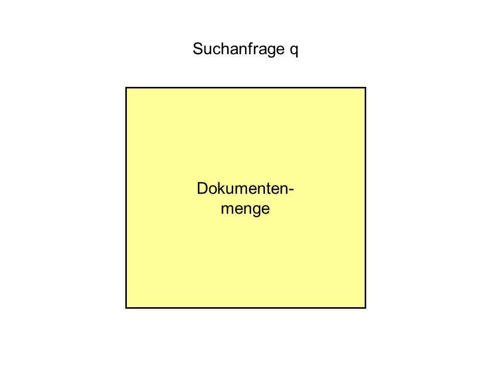 Suchanfrage q Dokumenten- menge