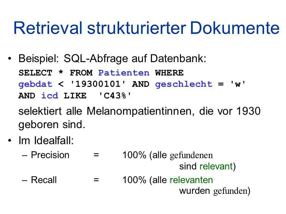 Retrieval strukturierter Dokumente