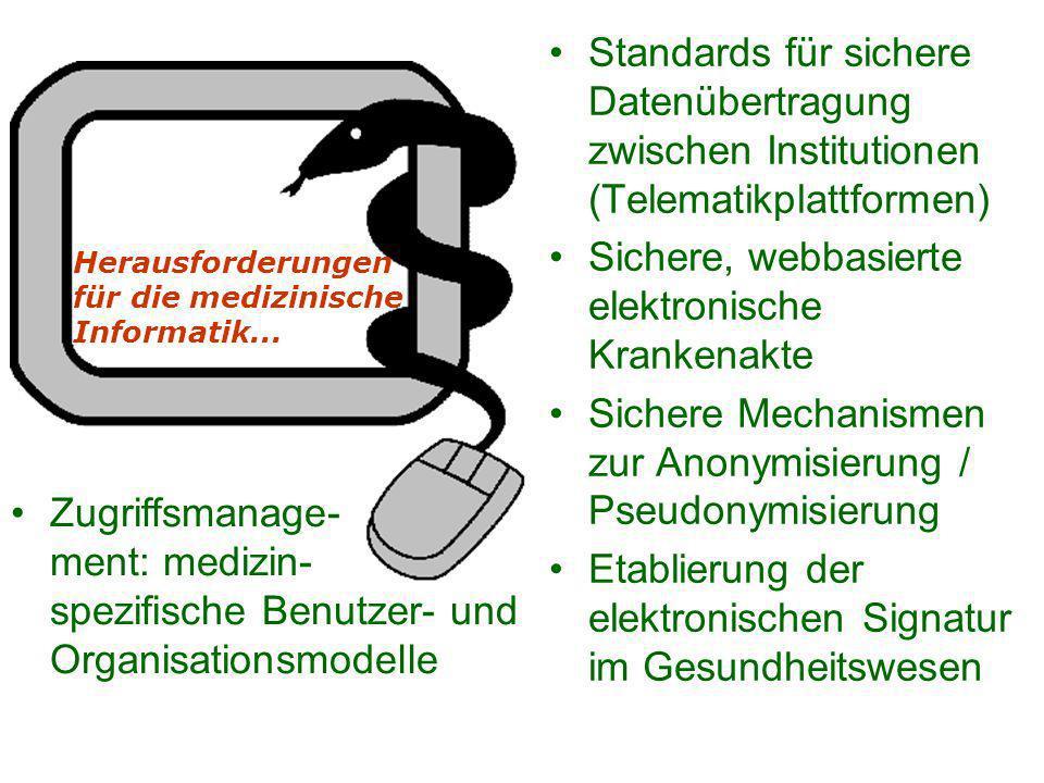 Sichere, webbasierte elektronische Krankenakte