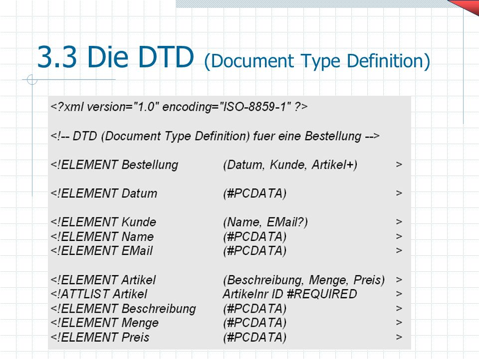 3.3 Die DTD (Document Type Definition)