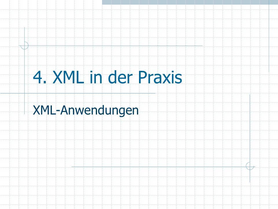4. XML in der Praxis XML-Anwendungen