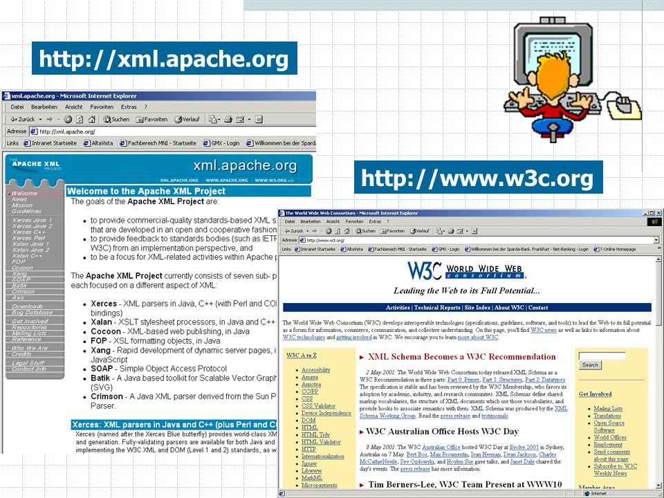 http://xml.apache.org http://www.w3c.org