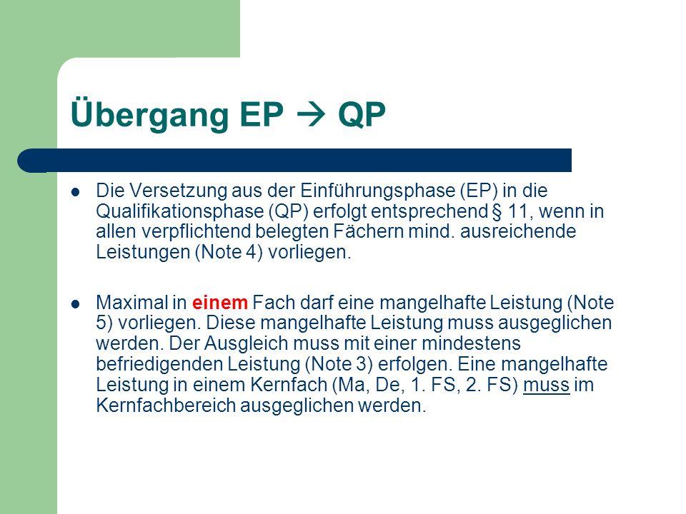 Übergang EP  QP