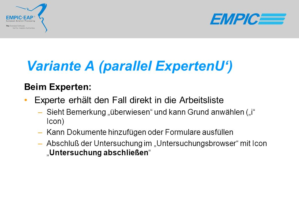 Variante A (parallel ExpertenU')