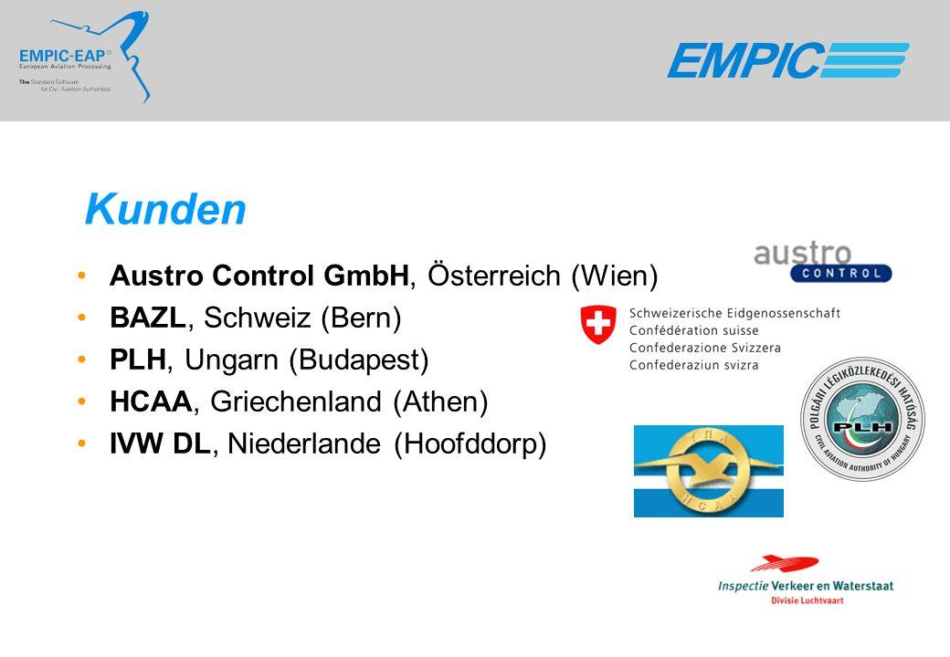 Kunden Austro Control GmbH, Österreich (Wien) BAZL, Schweiz (Bern)