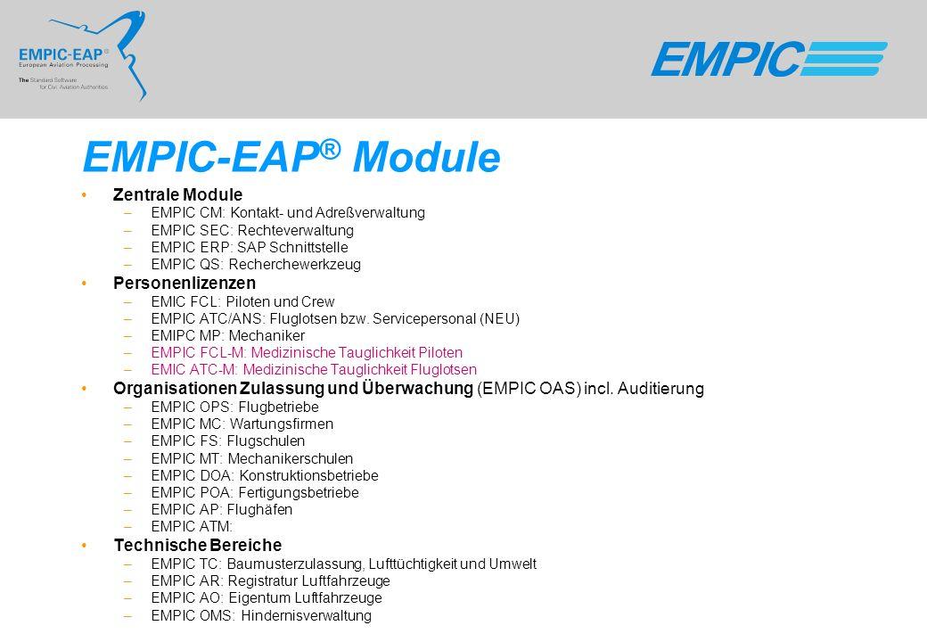 EMPIC-EAP® Module Zentrale Module Personenlizenzen