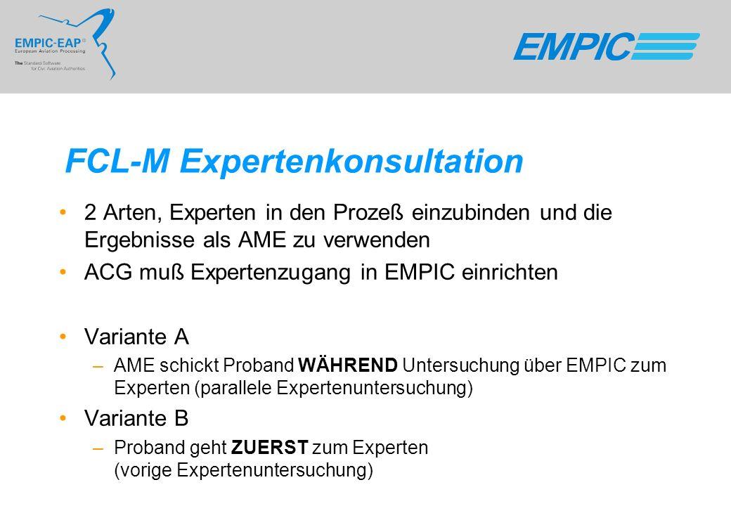 FCL-M Expertenkonsultation