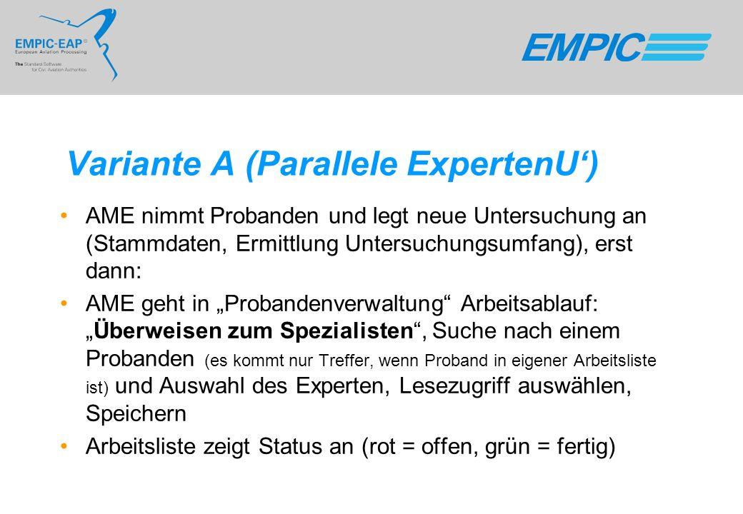 Variante A (Parallele ExpertenU')