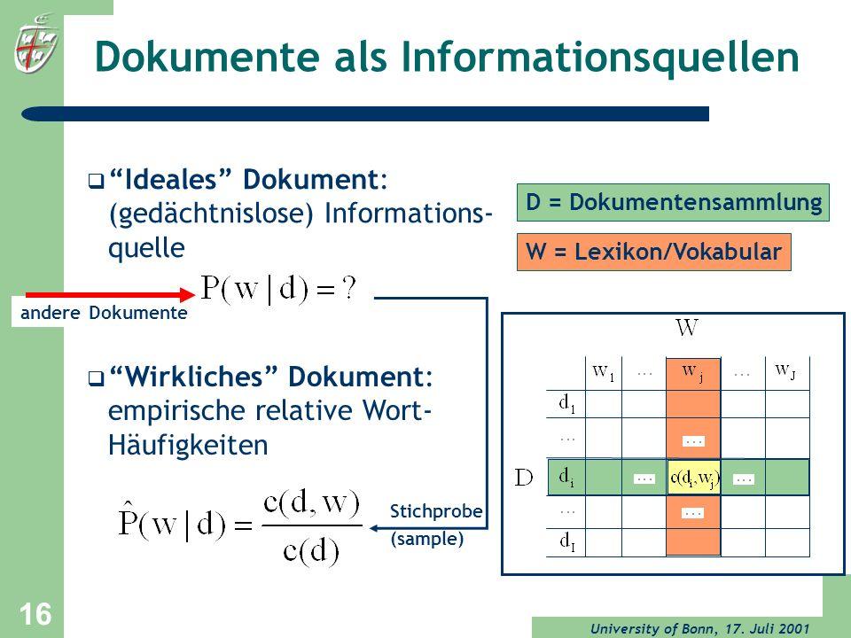 Dokumente als Informationsquellen
