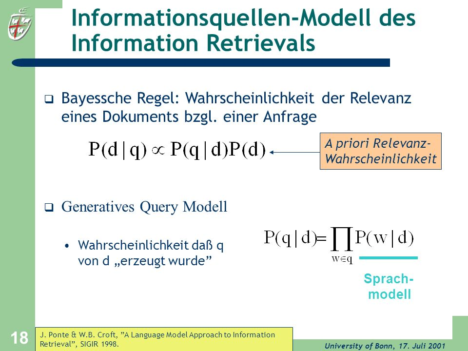 Informationsquellen-Modell des Information Retrievals