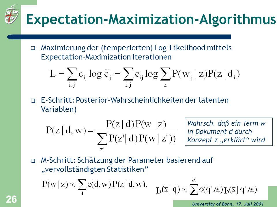 Expectation-Maximization-Algorithmus