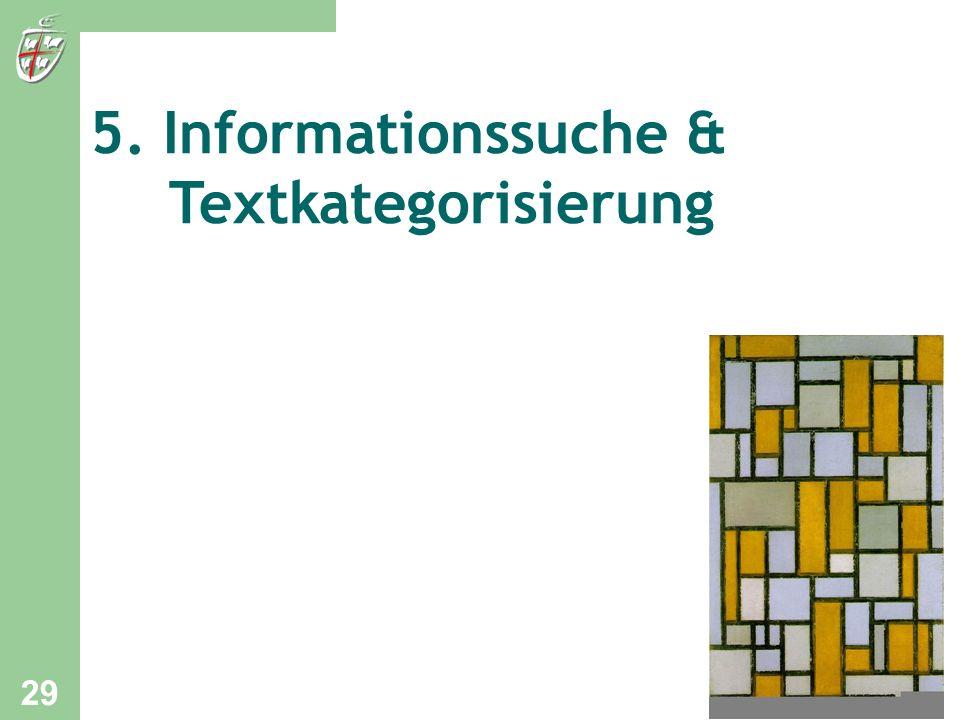 5. Informationssuche & Textkategorisierung
