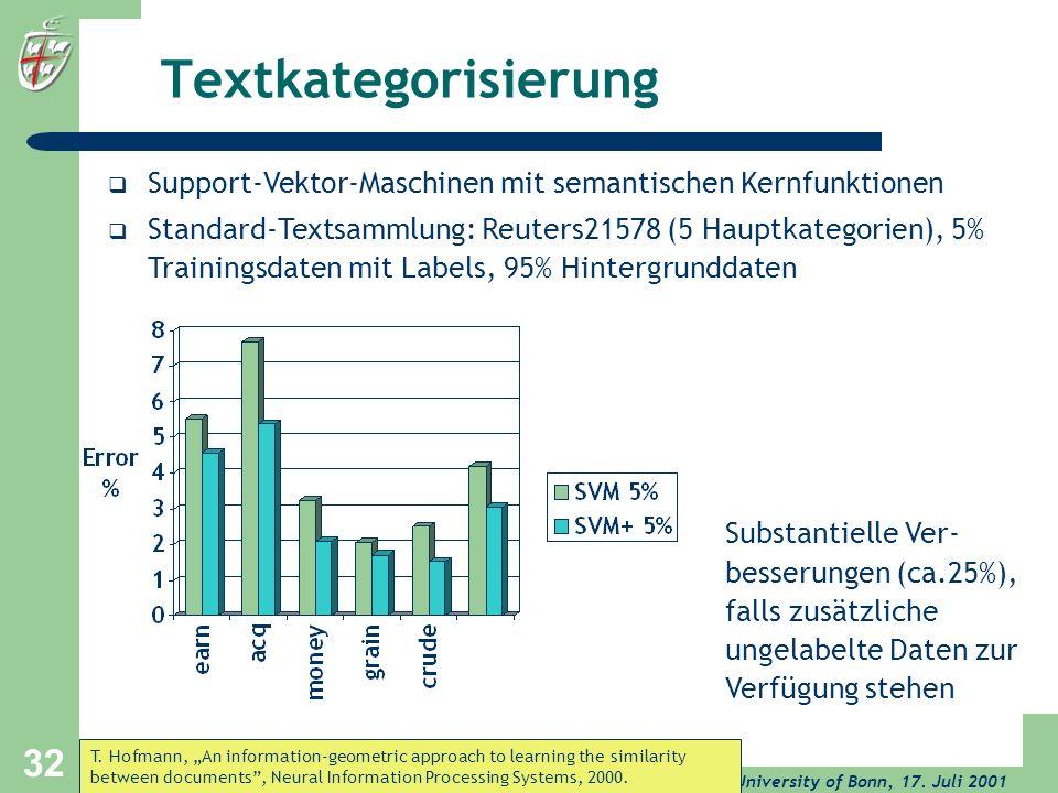 Textkategorisierung Support-Vektor-Maschinen mit semantischen Kernfunktionen.