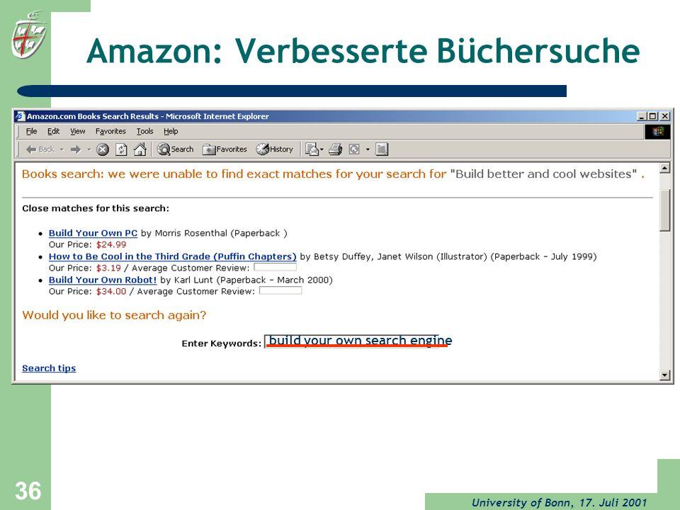 Amazon: Verbesserte Büchersuche