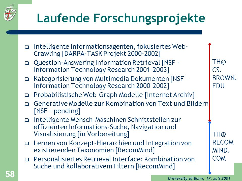 Laufende Forschungsprojekte