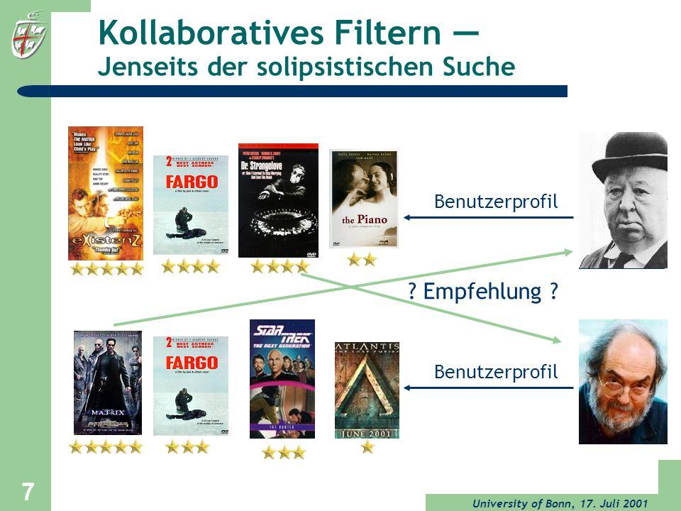 Kollaboratives Filtern — Jenseits der solipsistischen Suche