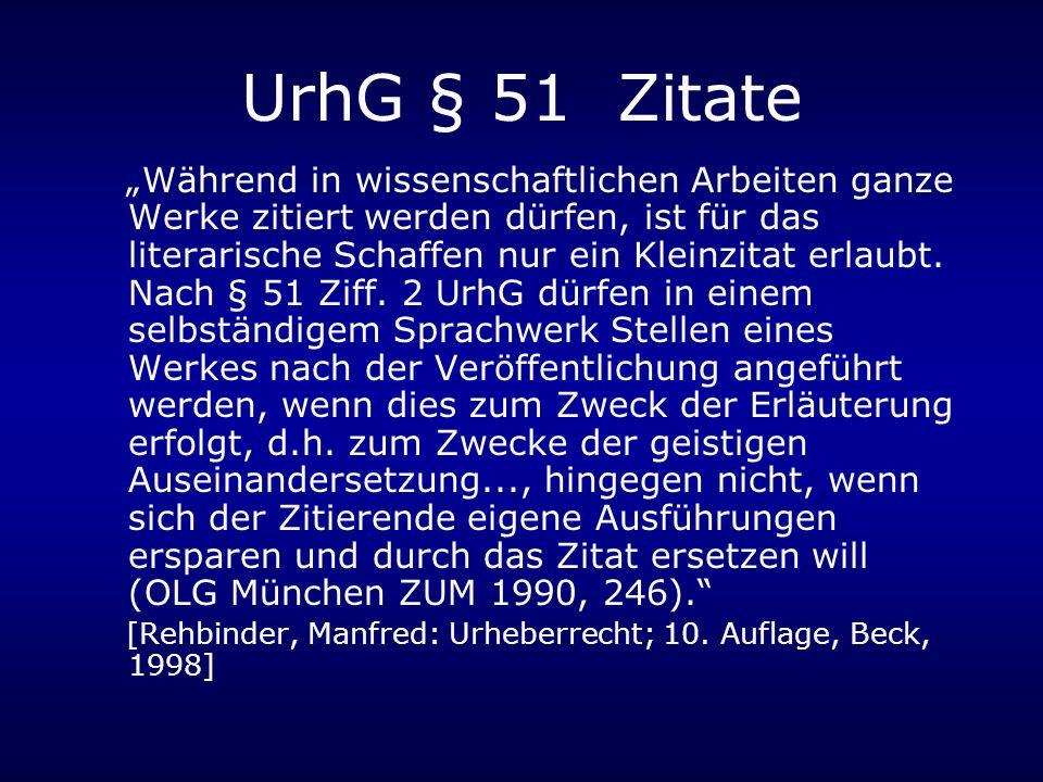 UrhG § 51 Zitate