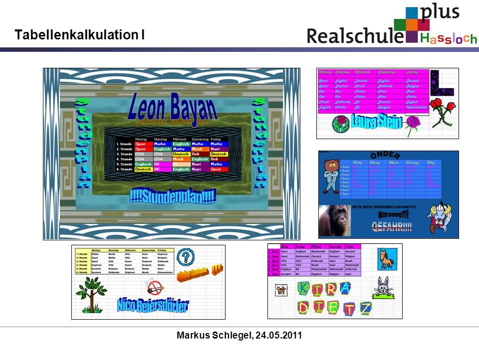 Tabellenkalkulation I
