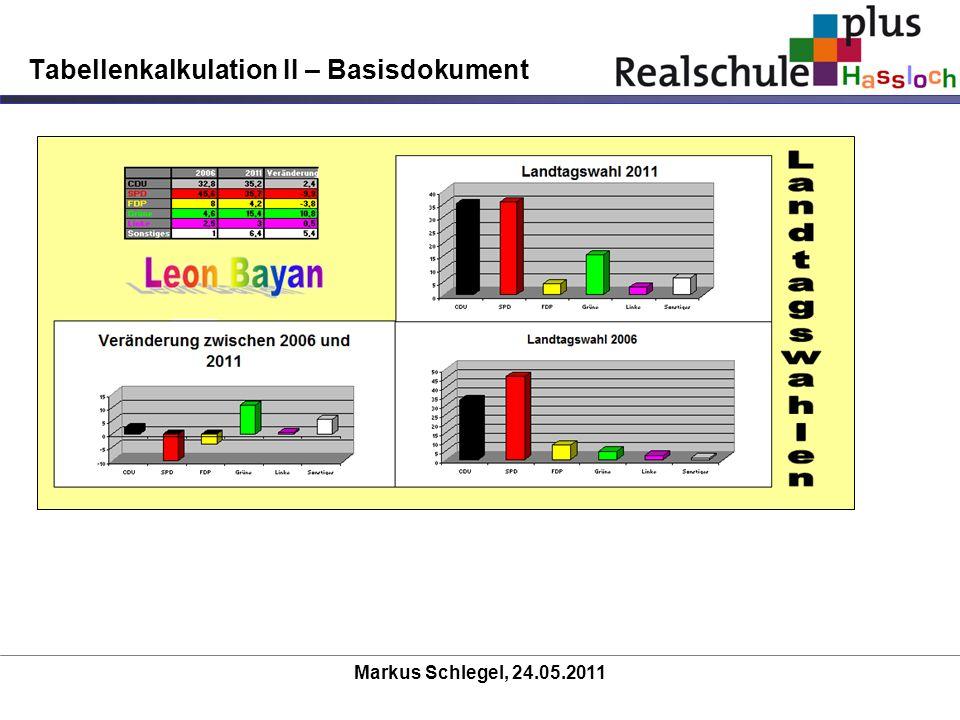Tabellenkalkulation II – Basisdokument