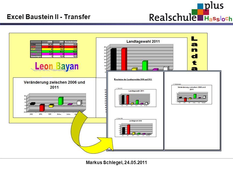 Excel Baustein II - Transfer