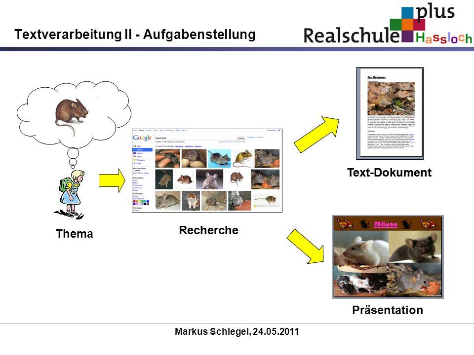 Textverarbeitung II - Aufgabenstellung