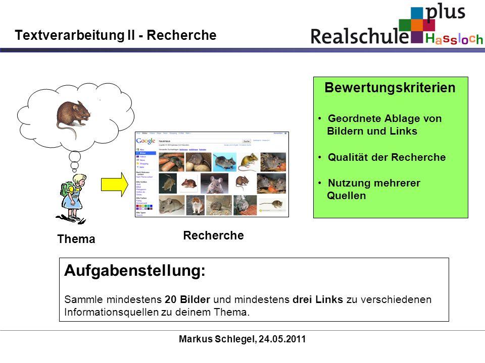 Textverarbeitung II - Recherche