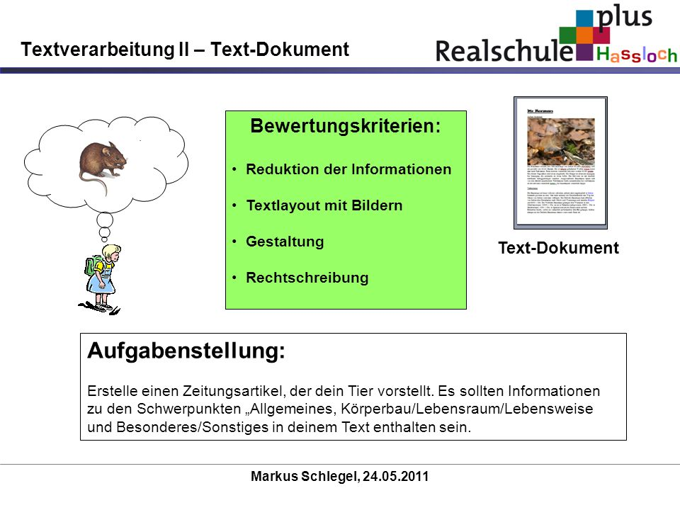 Textverarbeitung II – Text-Dokument