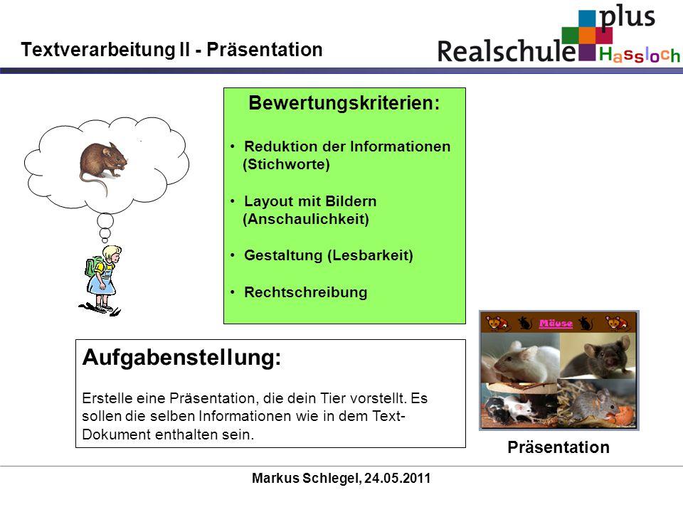 Textverarbeitung II - Präsentation