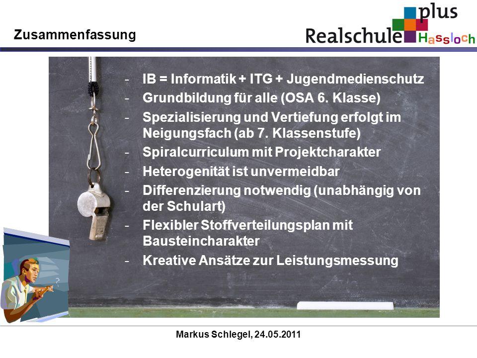 IB = Informatik + ITG + Jugendmedienschutz