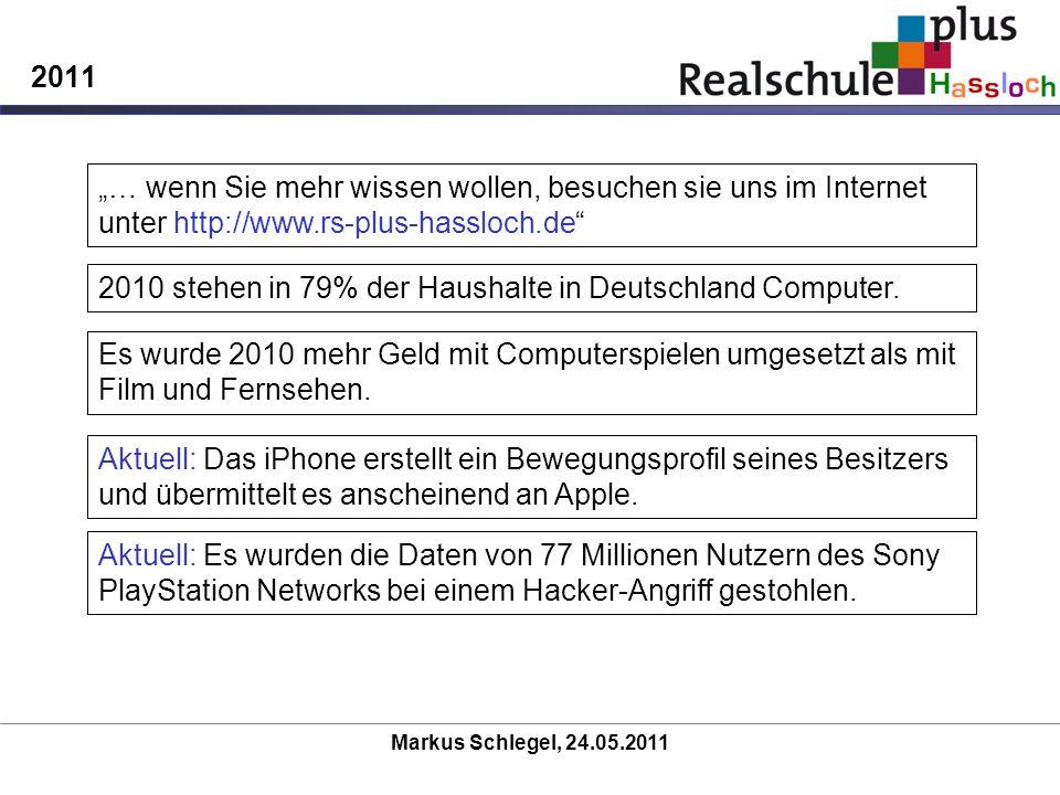 2010 stehen in 79% der Haushalte in Deutschland Computer.